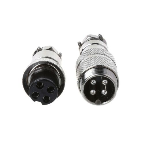 Gx16 Butting Aviation Male Connector Female 2//3//4//5//6//7//8 Pin Plug