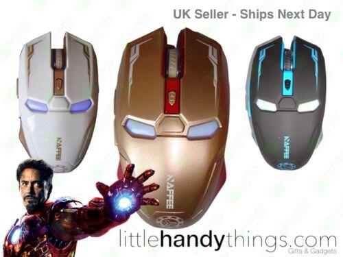 Iron Man Marvel Avengers Gold Wireless Optical USB PC//Mac Gaming Mouse