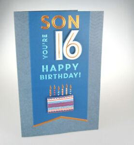 Son youre 16 happy birthday lovely blue happy 16th birthday image is loading son you 039 re 16 happy birthday lovely m4hsunfo