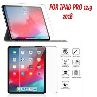 Attivo Vetro Temperato Proteggi Schermo Per Apple Ipad Faccia 12.9 2018 Pro Id Ok Uk- Superficie Lucente