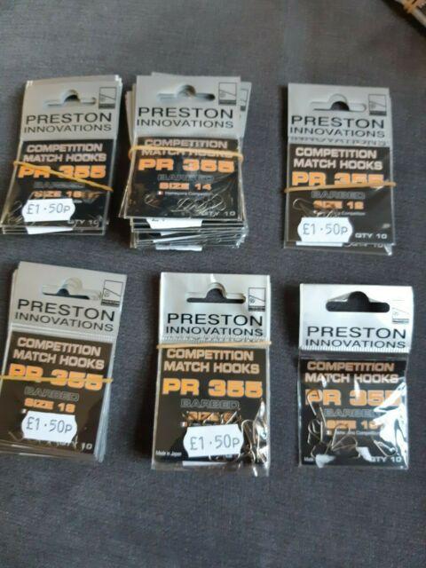 Preston PR 29 Hooks Barbless Spade End Size 14 x 10 packets