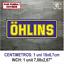 Sticker-Vinilo-Decal-Vinyl-Aufkleber-Adesivi-Autocollant-Ohlins-Suspension-AZOSS miniatura 7