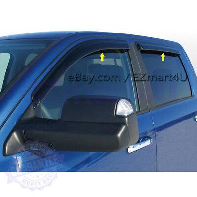 Fit for 2009-2015 2016 2017 Dodge Ram 1500 Crew Cab Window Visor Rain Deflector