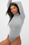 Ladies-Plain-High-Roll-Turtle-Polo-Neck-Bodysuit-Womens-Long-Sleeve-Leotard-Top thumbnail 5