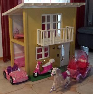 Puppenhaus Für Barbie : puppenhaus holz f r barbie mit 2 etagen barbieinneneinrichtung fahrzeuge ebay ~ A.2002-acura-tl-radio.info Haus und Dekorationen