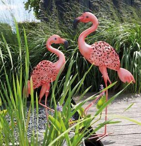 Luxform Jardin & Extérieur éclairage Solaire Metal Light Statue Ornement-flamingo-afficher Le Titre D'origine