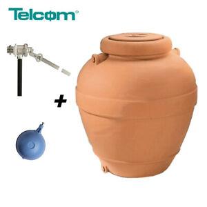 Serbatoio 500 litri stile terracotta giardino in polietilene per acqua potabile