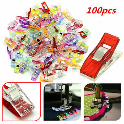 100 x Plasitc Wonder Clips for Fabric Quilting Craft Sewing Knitting Crochet