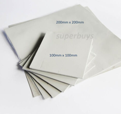 100x 100 x 2mm Silicone Thermal Pad Sheet CPU Computer Chip Heat Sink HeatSink