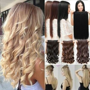 Uk Seller One Piece 34 Full Head Clip In Hair Extension Real As