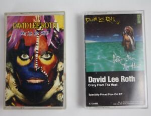 2 David Lee Roth Crazy From The Heat Ep Eat Em And Smile Cassette Tape Tested 75992547048 Ebay