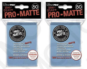 100-2pk-ULTRA-PRO-Pro-Matte-Deck-Protector-Card-Sleeves-Standard-Light-Blue
