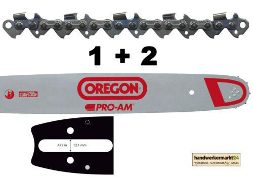"""Oregon 1 Führungsschiene 2 Sägeketten .325/"""" D025 Stihl 33 cm 37 cm 40 cm 45 cm"""