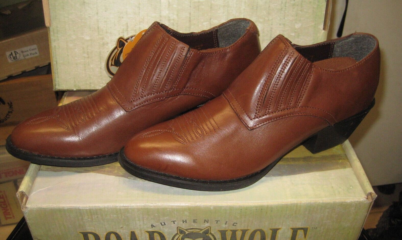 Road Wolf Größe Damenss 2043 Delancy Chocolate Full grain Größe Wolf 10 M NEW bec7f1