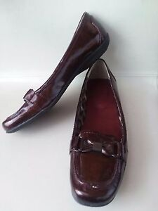 MOOTSIES TOOTSIES Brown Glossy Shiny Loafers Flats Shoes Womens 7.5 M HiddenJuel