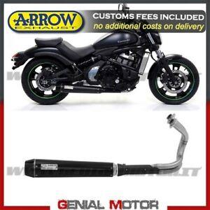 Kawasaki Vulcan 2017 >> Details About Full Exhaust Arrow Rebel Steel Black Kawasaki Vulcan S 650 Cafe 2017 2019