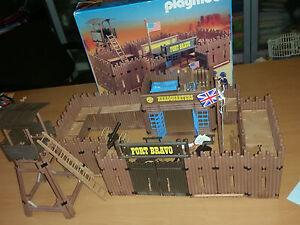Playmobil-System-Vintage-Fortino-Fort-Bravo-3773-con-box