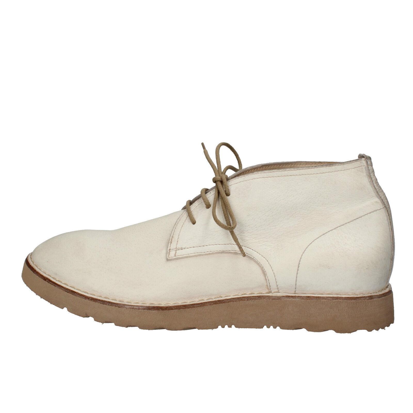 Herren schuhe MOMA 42 EU desert boots Weiß leder AE989-B