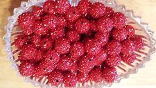 wholesale 100pcs red Crystal 12MM Shamballa Rhinestone beads A+ US Seller