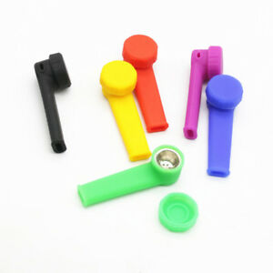 Silicone-Hand-Tobacco-Smoking-Pipe-with-Cap-Bowl-Herb-Cigarette-Filter-Holder