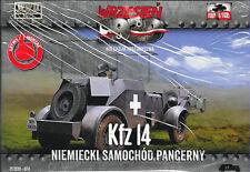 POLAND COLLECTION 024 Autoblindo Kfz 14 Wermacht 1939 scala 1/72