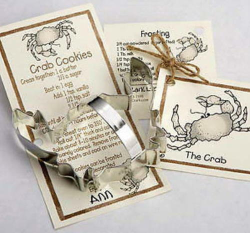Ann Clark CRAB Tin Plated Steel Cookie Cutter  USA