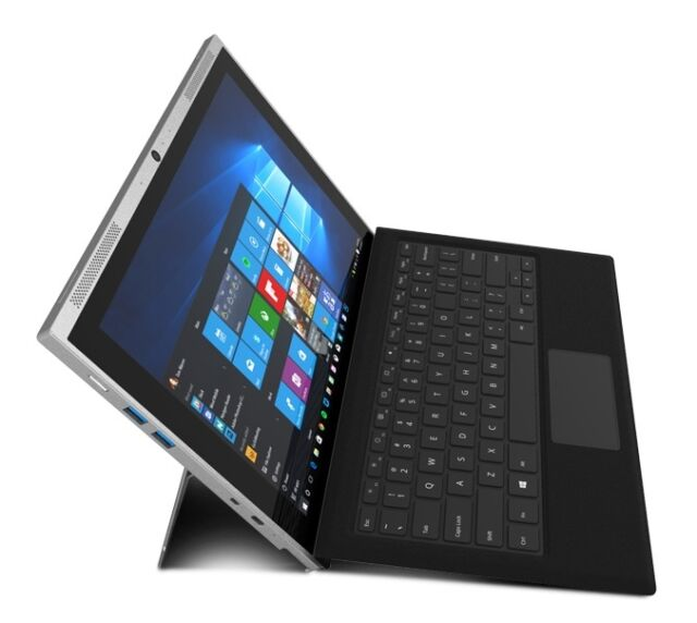 """Smartron tbook - Intel CoreM, 4GB,128GB SSD,WIN10,12.2"""" Touch, 2-in-1 Grey- Deal"""