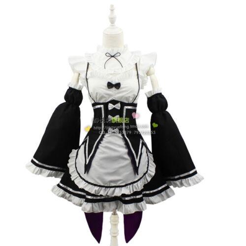 Re Zéro Kara hajimeru Isekai Seikatsu REM RAM Maid Robe Cosplay Costume