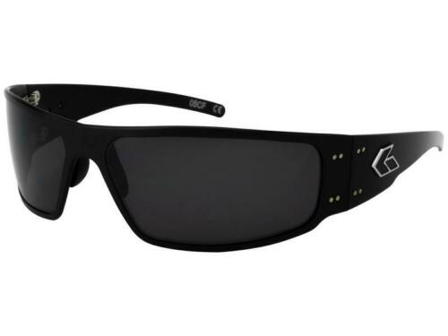 New Gatorz MAGNUM 2.0 Asian Fit BLACK Frame Sunglasses With Smoked Lens