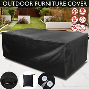 Tremendous Details About Black Gardman Waterproof Outdoor Garden Furniture Covers Table Bench Chair Caraccident5 Cool Chair Designs And Ideas Caraccident5Info