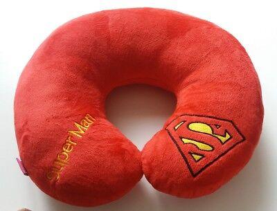 Red NEW Superhero SUPERMAN Travel Neck Pillow