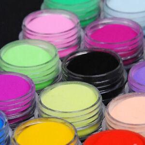 12-Bottle-Colors-Acrylic-Nail-Art-Tips-UV-Gel-Powder-3D-DIY-Decorations