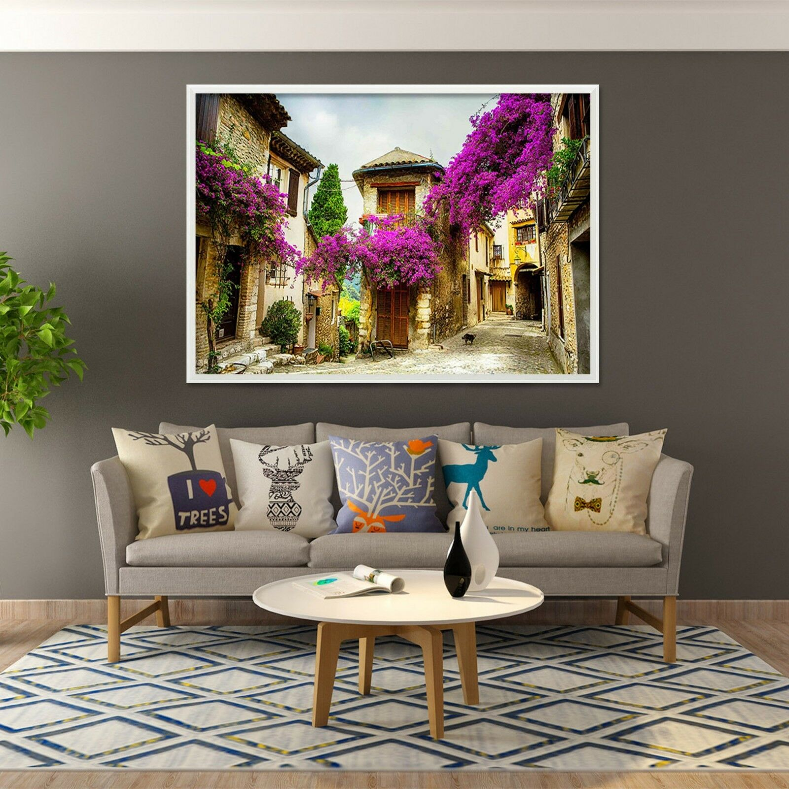 3D Front Door Flower 4 Framed Poster Home Decor Print Painting Art AJ WALLPAPER