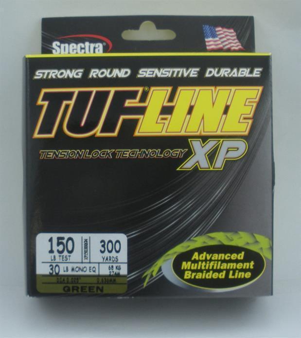 Tuf-line XP150300GN XP Spectra Braided Line 150 lb test 300Yd 23126