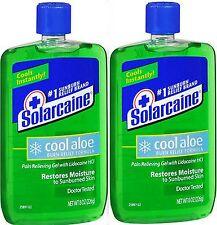 Solarcaine Cool Aloe Burn Relief Gel w/ LIDOCAINE 8 oz ( 2 pack ) PRIORITY SHIP!