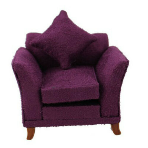 112 scale dollhouse miniature furniture handmade lovely purple elegant armchair