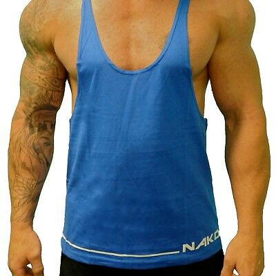 Clothing, Shoes & Accessories Obedient Nakd Straight Mens Gym Singlet Racerback T Y Back Tank Top Bodybuilding Workout