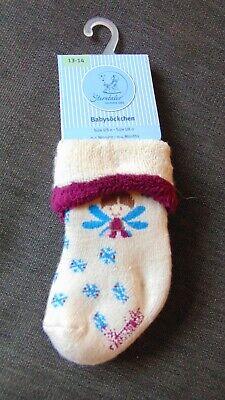 NEWBORN BABY/'s SOCKS white bow rose 1 pair UK size 00-0 cotton rich girl