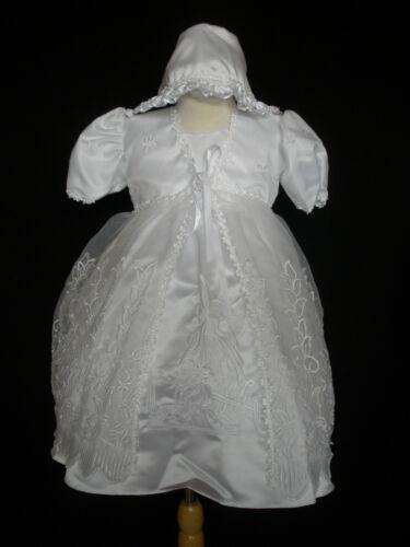 New Infant Girl /& Toddler Christening Baptism Formal Dress size:0M-30M White