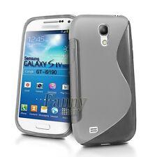 Gray Gel TPU Silicone Case Skin Cover for Samsung Galaxy S4 mini,GT- i9190,i9195