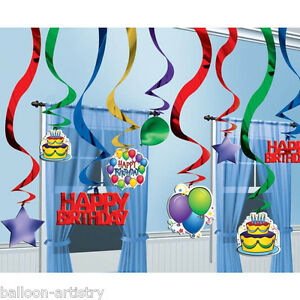 25-Bright-Balloons-Happy-Birthday-Party-Hanging-Cutouts-Foil-Swirls-Decorations
