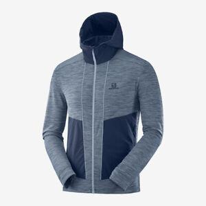 Details zu SALOMON Jacke Outline Mid JKT M Herren Fleecejacke Midlayer blau flintstone M XL