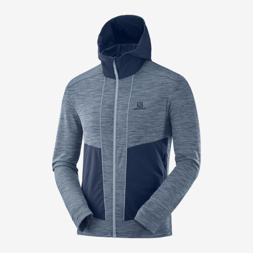 SALOMON Jacke Outline Mid JKT M Herren Fleecejacke Midlayer blau flintstone M-XL