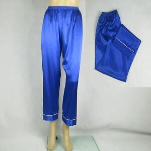 85ff2b120a0 Image is loading Women-Satin-Pajamas-Trousers-Lounge-Bottoms-Imitated-Silk-