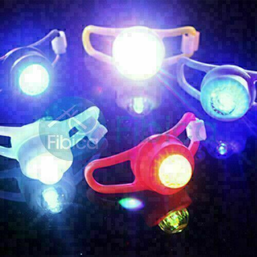 New Fixio Bike Cycling Round Frog LED Front Head Rear Light Waterproof Blue