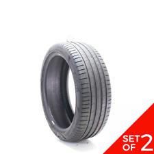 Set Of 2 Used 24540r20 Pirelli P Zero Pz4 Run Flat 99y 7 8532 Fits 24540r20