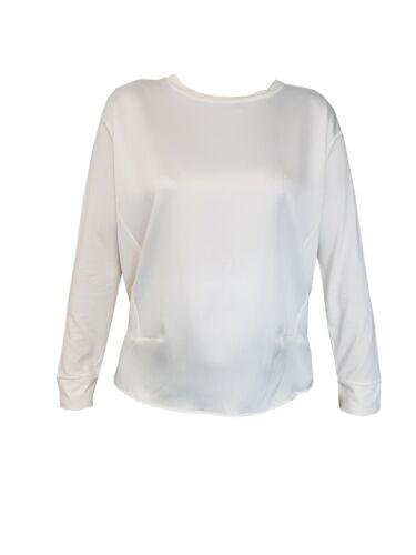 Femme Ex DUNNES boutiques Satin devant à manches longues Tops T Shirts