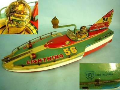 Autos & Lkw Alt Vintage Lightning56 Big Boot Tail Wing Friction Power Dose Spielzeug Japan F 100% Hochwertige Materialien Blechspielzeug