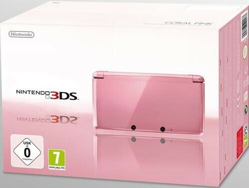 Nintendo 3DS console Coral rose / rosa + adaptateur secteur dans l'emballage uti