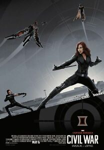 Captain America Civil War AMC IMAX EXCLUSIVE Team Cap #1 of 3 By Matt Ferguson